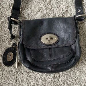 Fossil cross body bag leather
